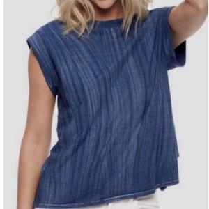 B2G1 Cloth & Stone Blue Open Back Knit Top